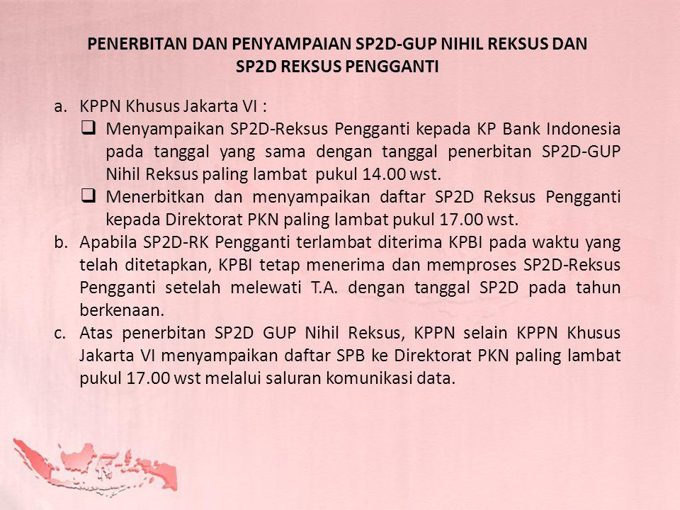 PENERBITAN DAN PENYAMPAIAN SP2D-GUP NIHIL REKSUS DAN SP2D REKSUS PENGGANTI