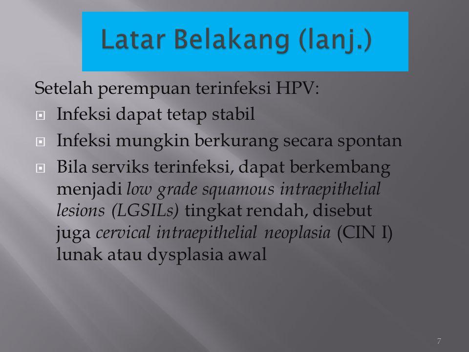 Setelah perempuan terinfeksi HPV: