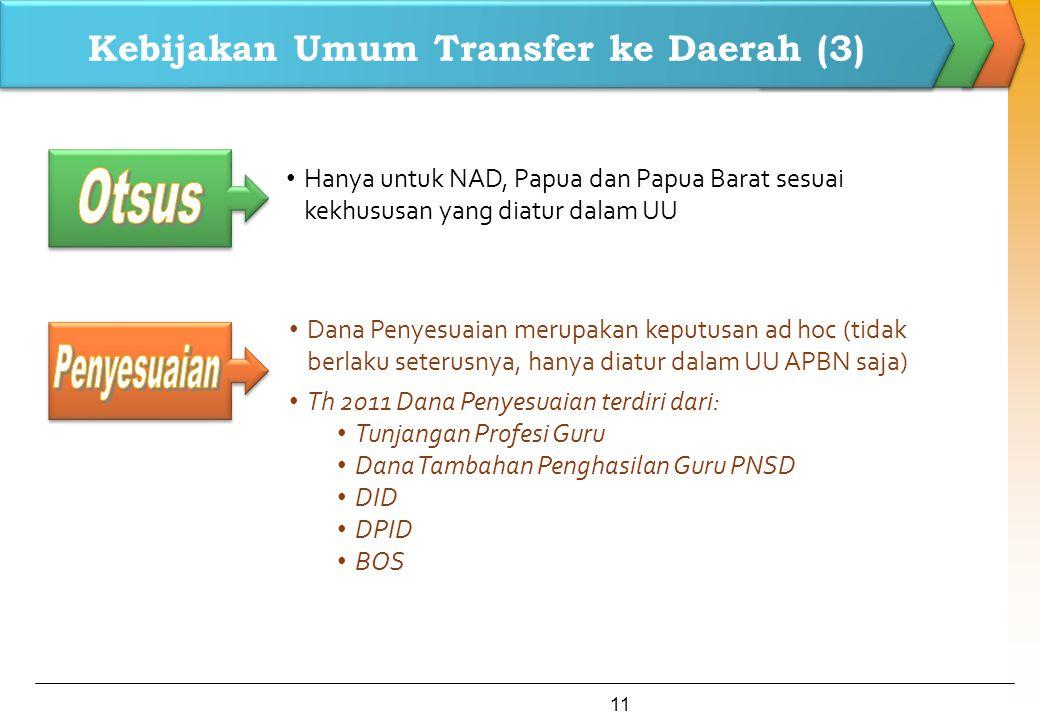 Kebijakan Umum Transfer ke Daerah (3)