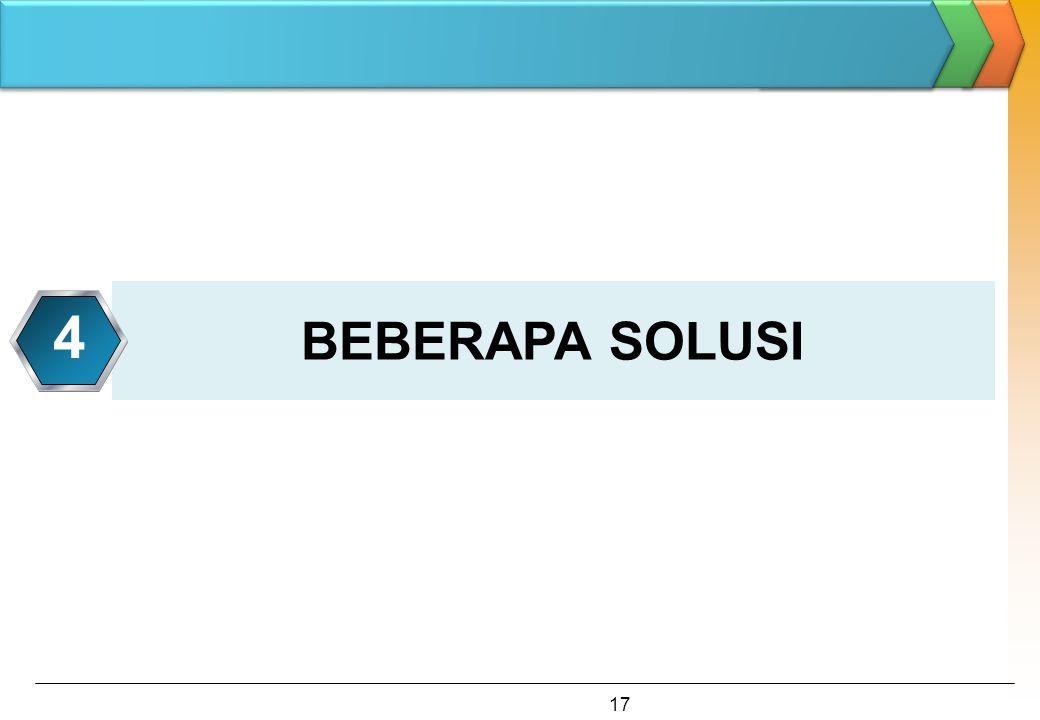 BEBERAPA SOLUSI 4