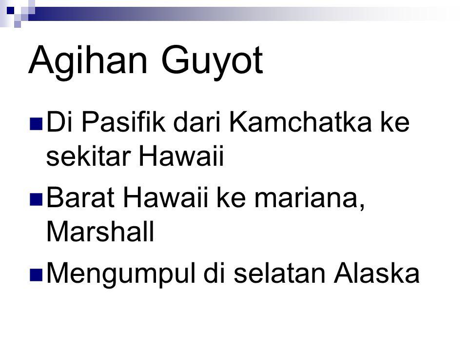 Agihan Guyot Di Pasifik dari Kamchatka ke sekitar Hawaii