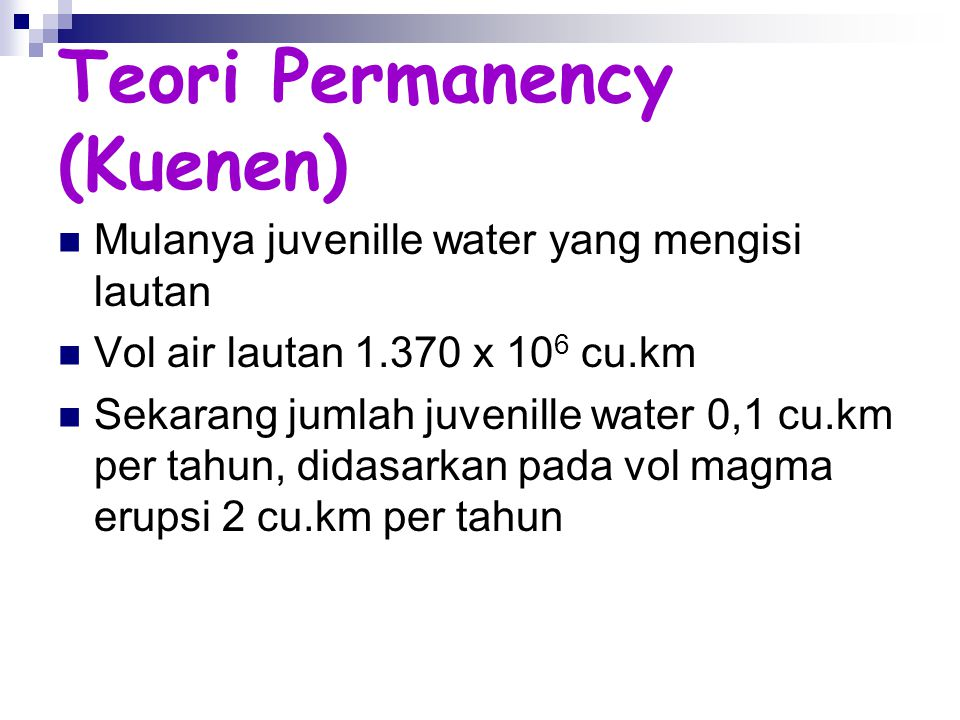 Teori Permanency (Kuenen)