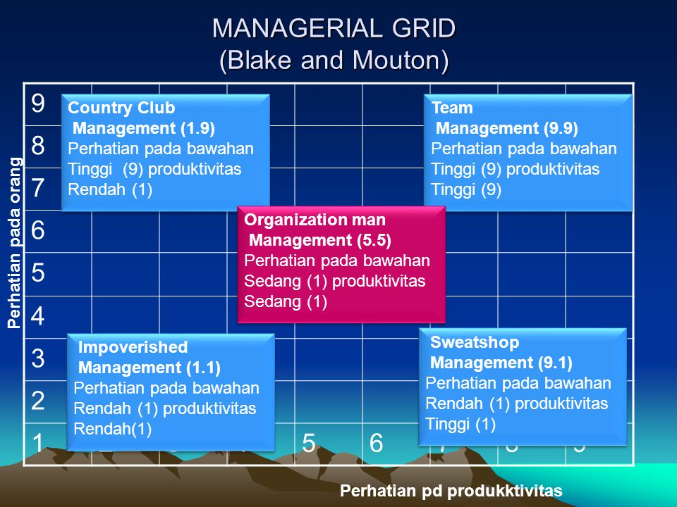 MANAGERIAL GRID (Blake and Mouton)