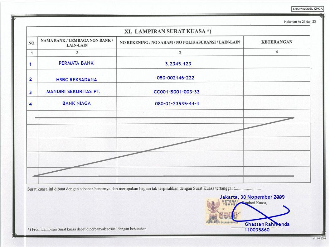 37 1 1 PERMATA BANK 3.2345.123 HSBC REKSADANA 2 2 050-002146-222 3
