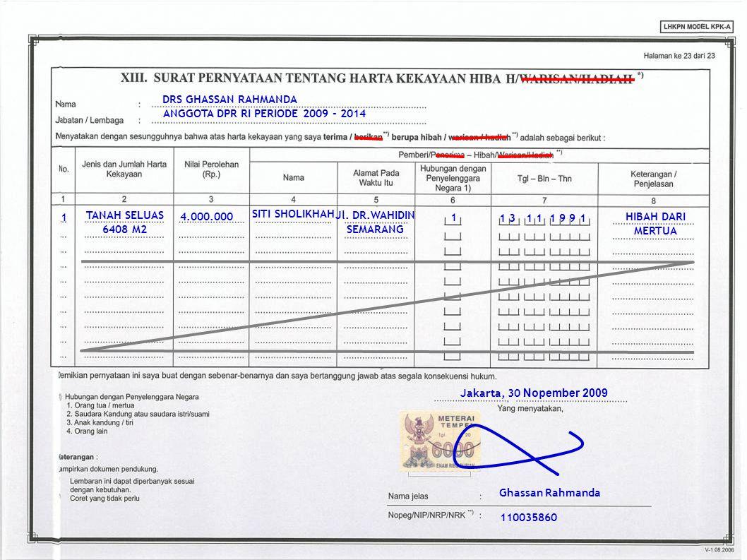 41 DRS GHASSAN RAHMANDA ANGGOTA DPR RI PERIODE 2009 - 2014 1