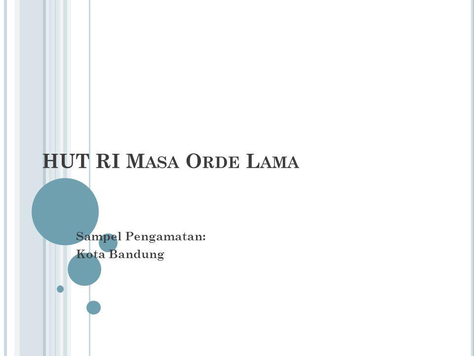 Sampel Pengamatan: Kota Bandung