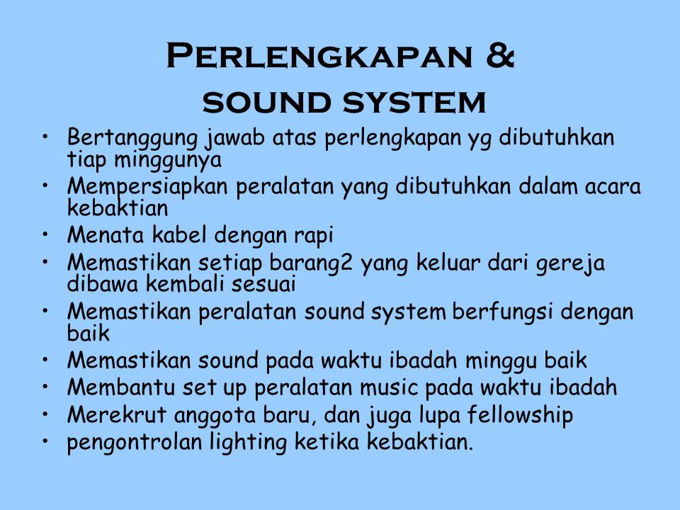 Perlengkapan & sound system