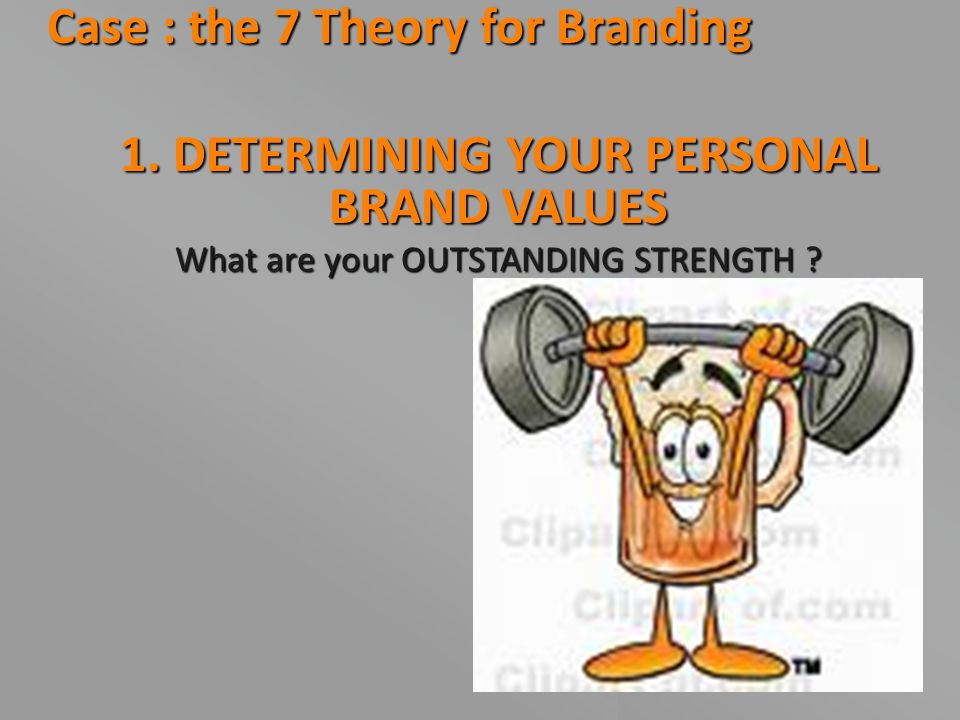 1. DETERMINING YOUR PERSONAL BRAND VALUES