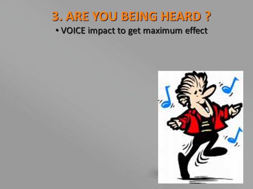 VOICE impact to get maximum effect