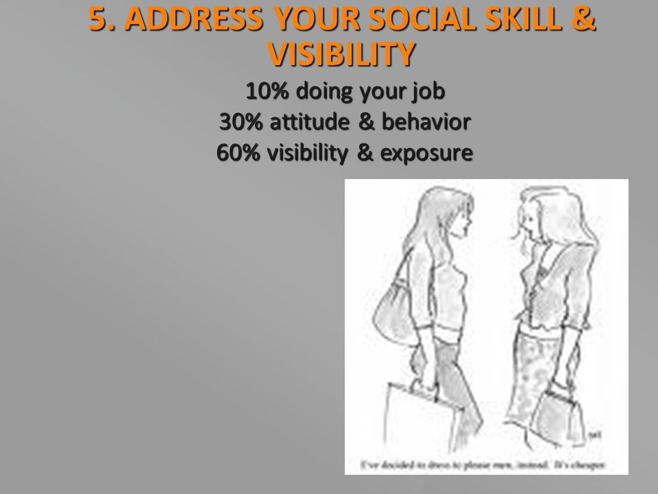 5. ADDRESS YOUR SOCIAL SKILL & VISIBILITY