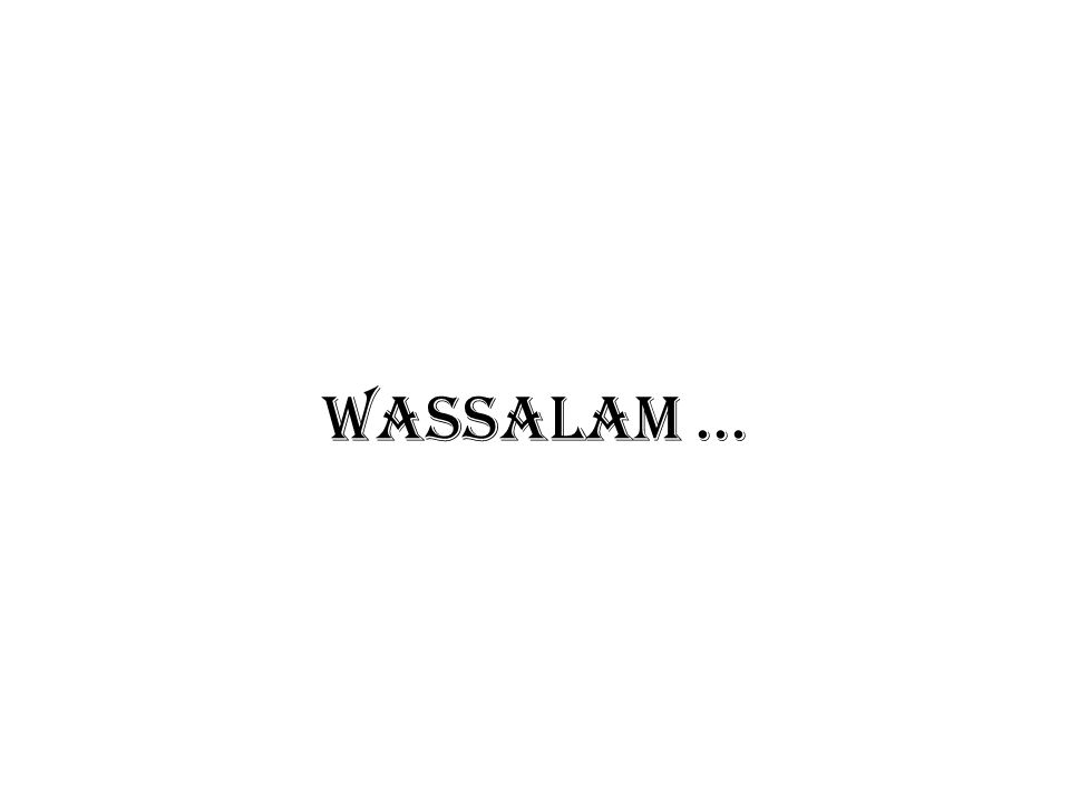 WASSALAM ...