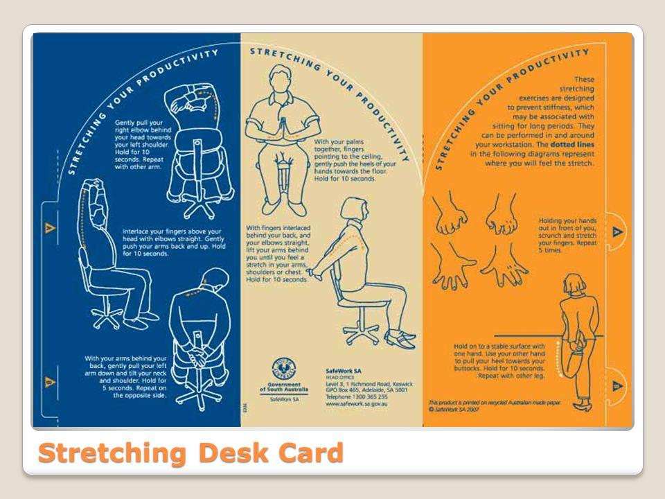 Stretching Desk Card