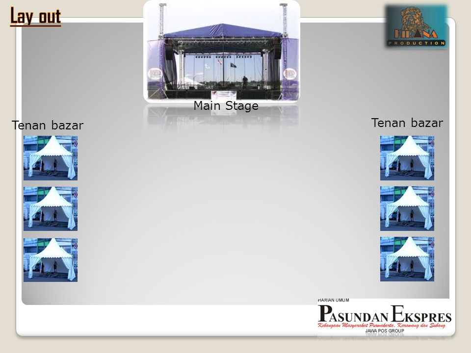 Lay out Tenan bazar Main Stage