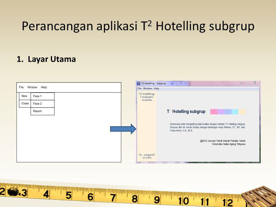 Perancangan aplikasi T2 Hotelling subgrup