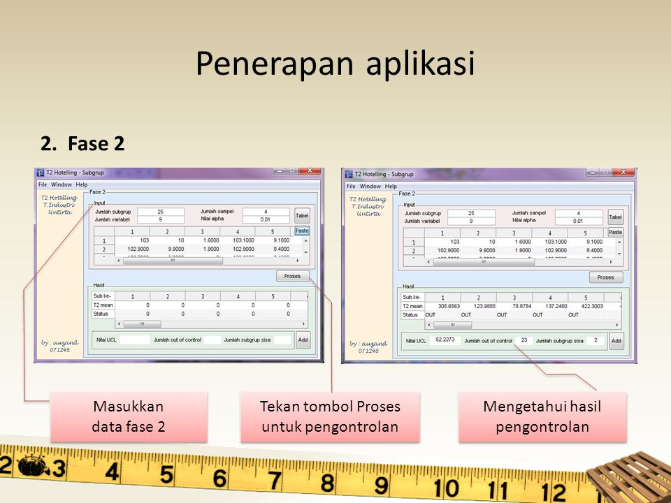 Penerapan aplikasi 2. Fase 2 Masukkan data fase 2