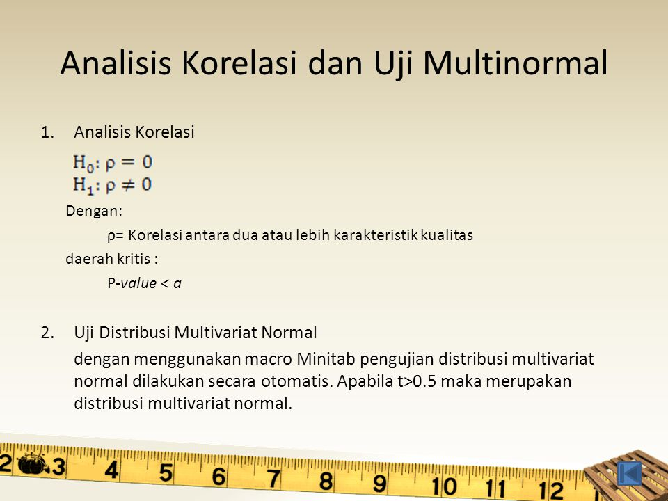 Analisis Korelasi dan Uji Multinormal