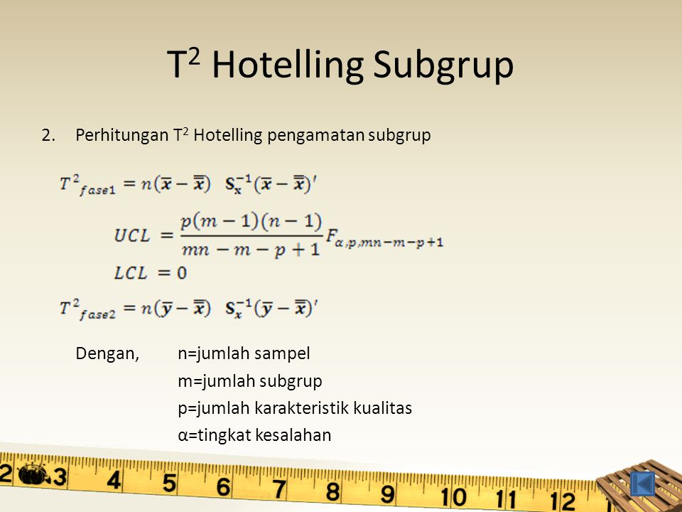 T2 Hotelling Subgrup Perhitungan T2 Hotelling pengamatan subgrup