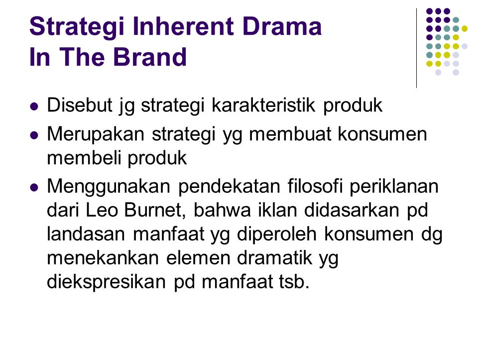 Strategi Inherent Drama In The Brand
