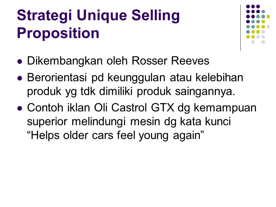 Strategi Unique Selling Proposition