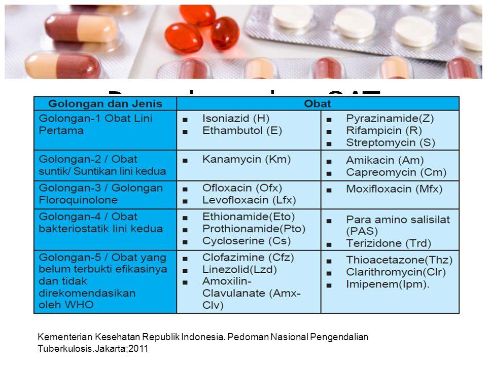 Pengelompokan OAT Kementerian Kesehatan Republik Indonesia.