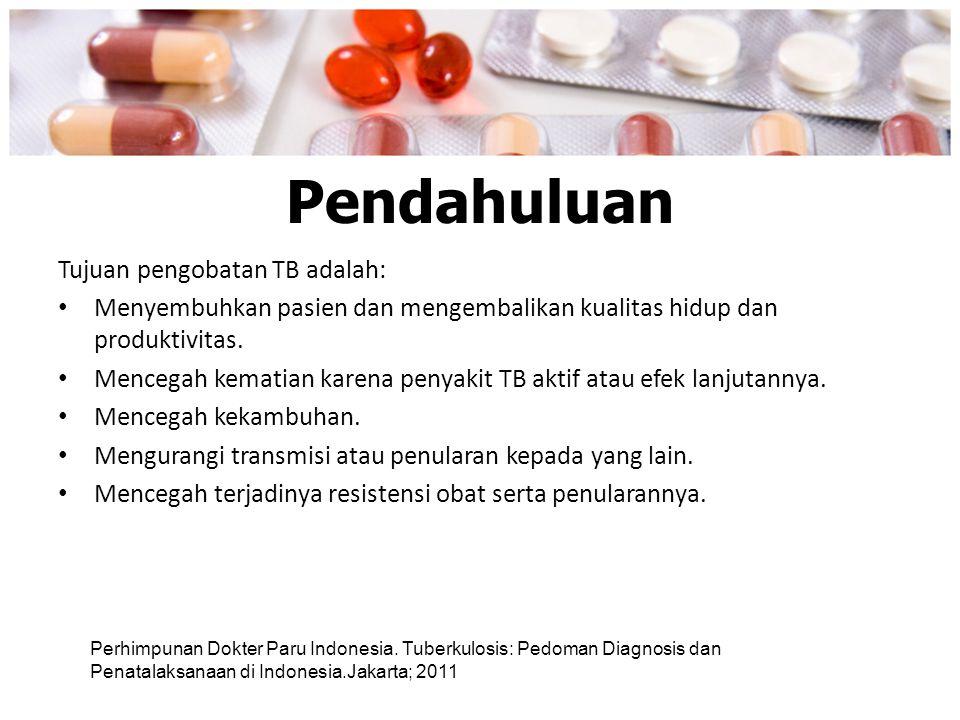 Pendahuluan Tujuan pengobatan TB adalah: