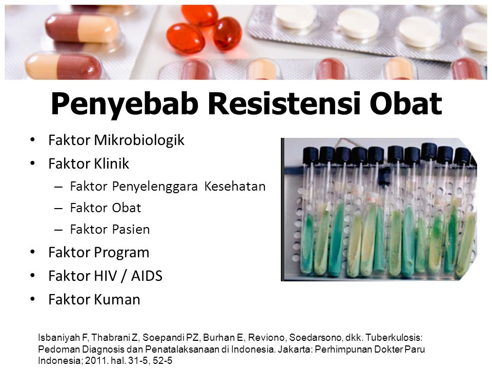 Penyebab Resistensi Obat