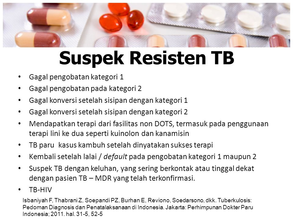 Suspek Resisten TB Gagal pengobatan kategori 1