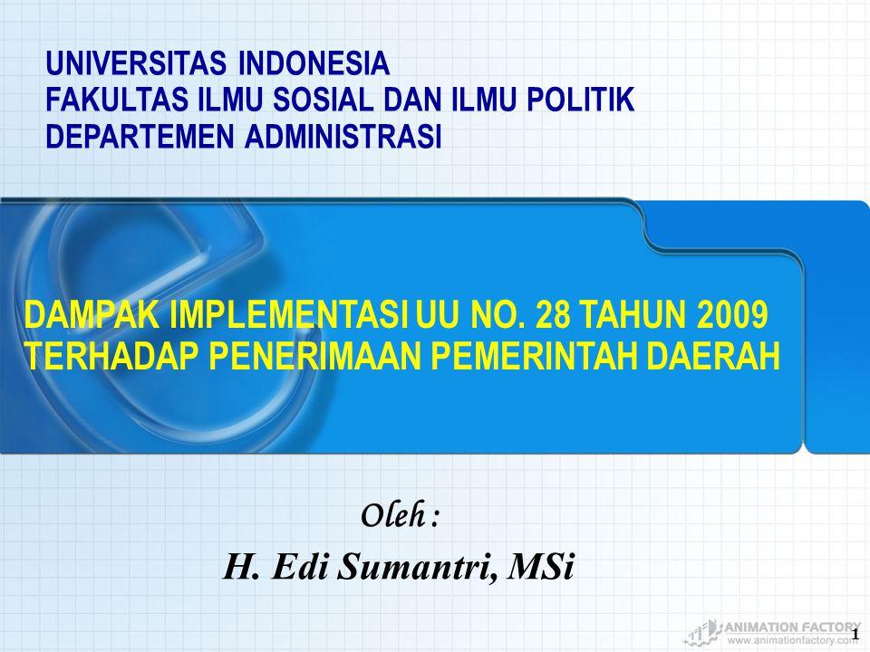 DAMPAK IMPLEMENTASI UU NO. 28 TAHUN 2009