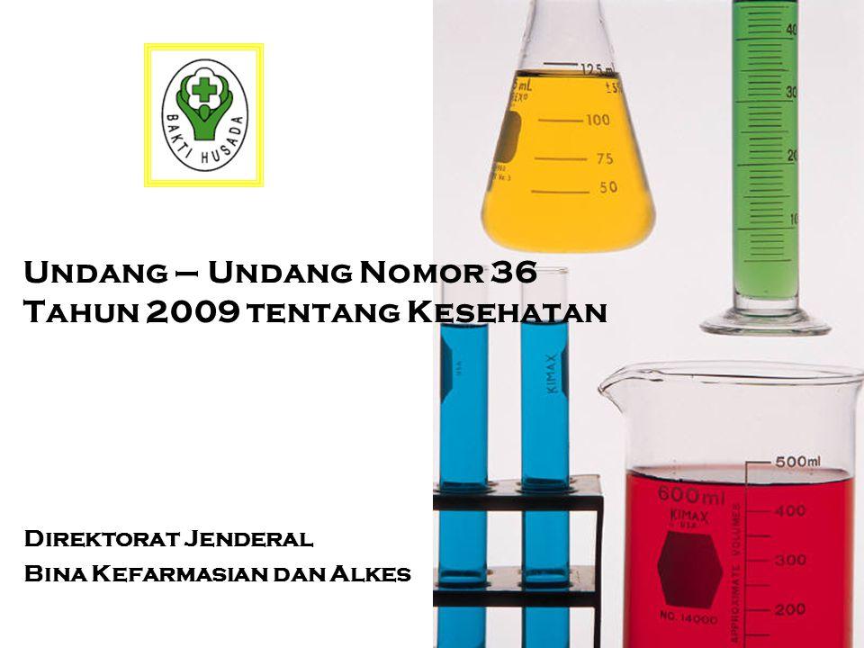 Undang – Undang Nomor 36 Tahun 2009 tentang Kesehatan