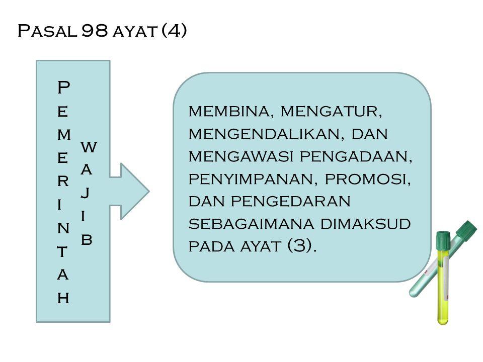 Pasal 98 ayat (4) Pemerintah. wajib.