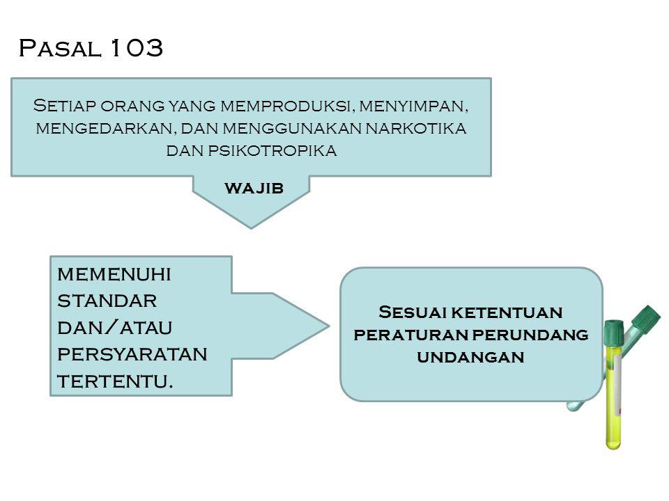 Pasal 103 memenuhi standar dan/atau persyaratan tertentu.