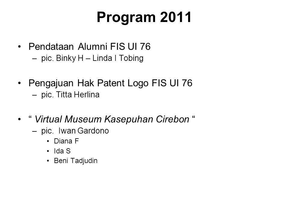Program 2011 Pendataan Alumni FIS UI 76
