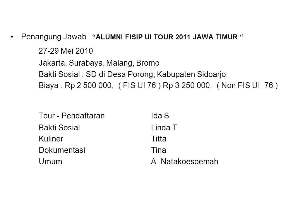 Tour - Pendaftaran Ida S