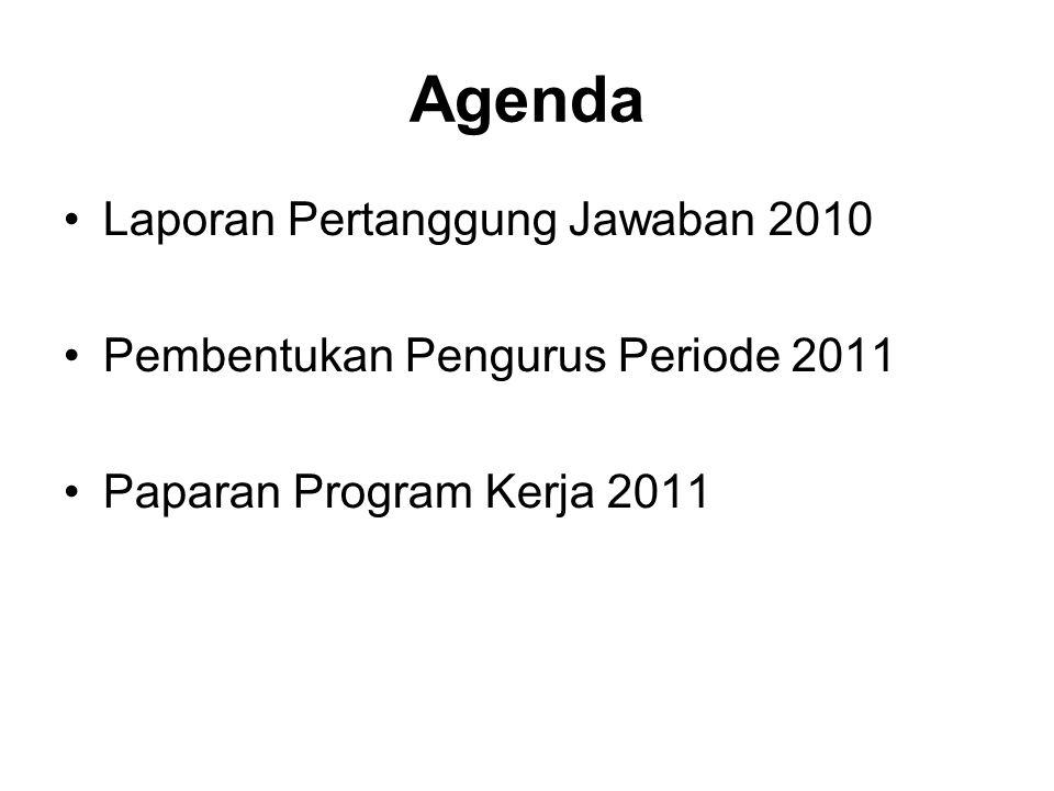 Agenda Laporan Pertanggung Jawaban 2010