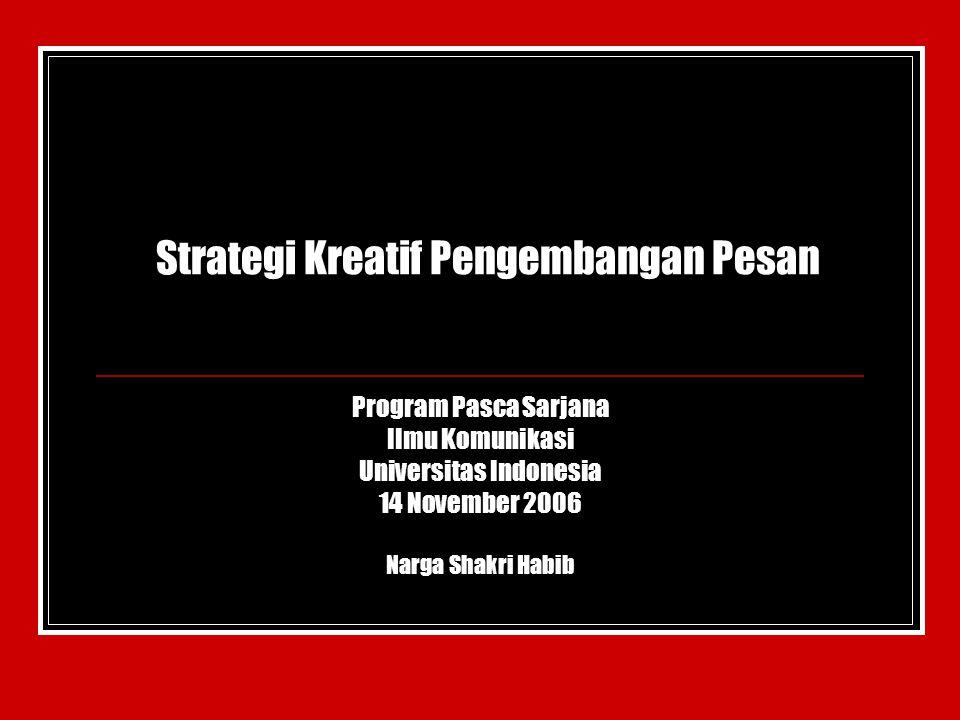 Strategi Kreatif Pengembangan Pesan