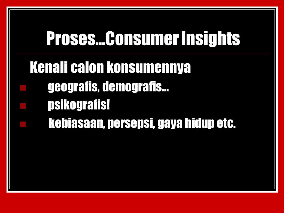 Proses…Consumer Insights