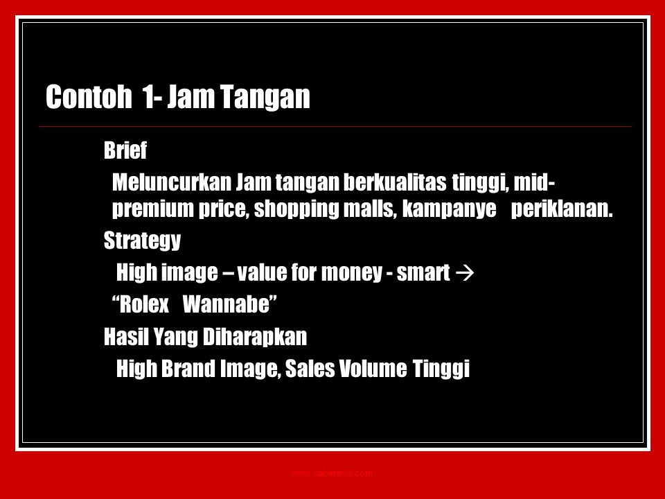 Contoh 1- Jam Tangan Brief