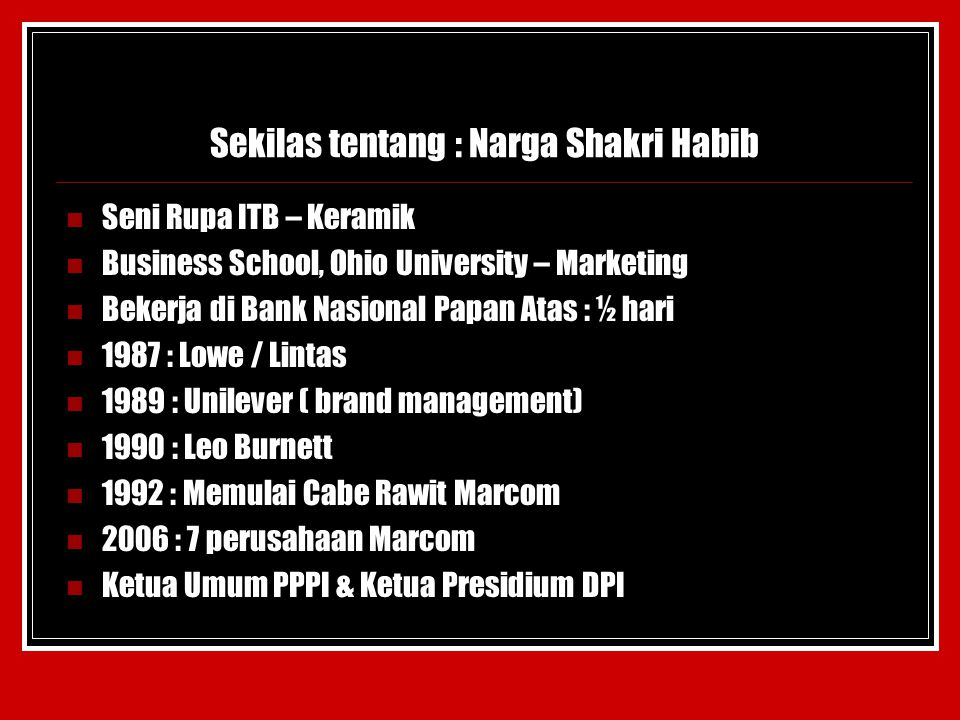 Sekilas tentang : Narga Shakri Habib