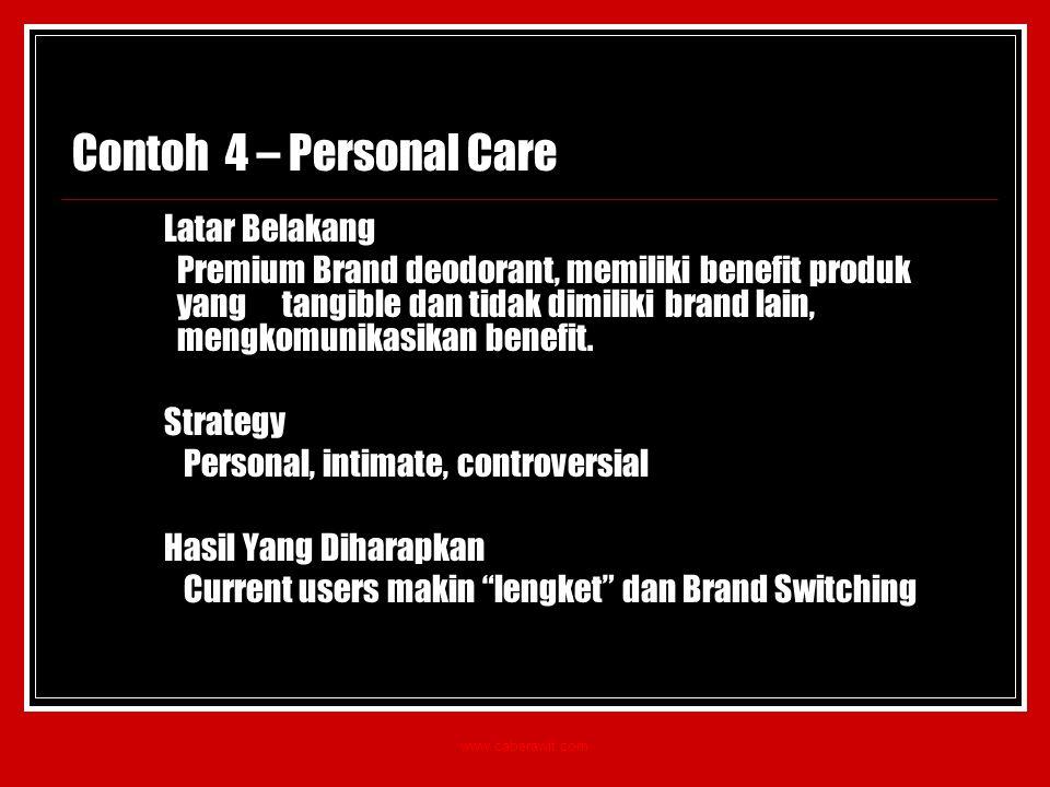 Contoh 4 – Personal Care Latar Belakang