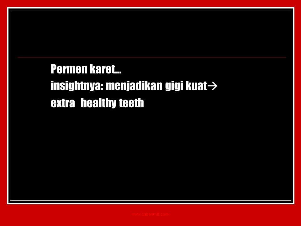 insightnya: menjadikan gigi kuat extra healthy teeth