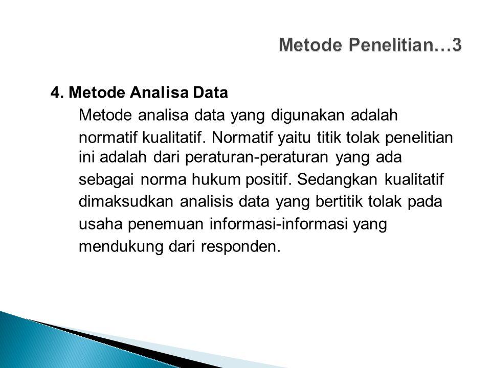 Metode Penelitian…3 4. Metode Analisa Data