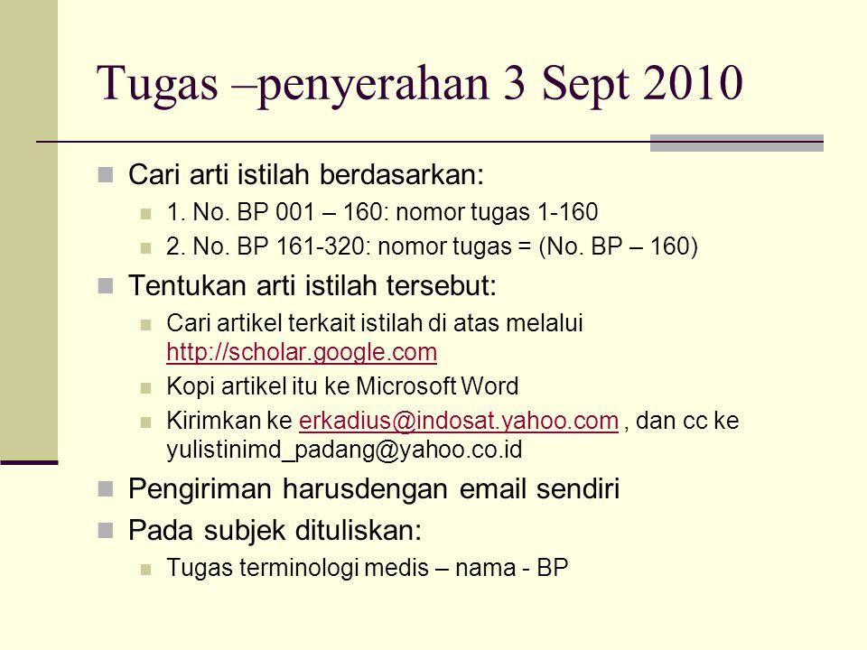 Tugas –penyerahan 3 Sept 2010