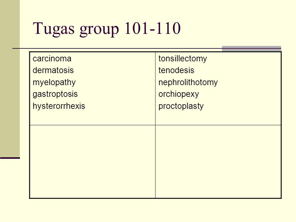 Tugas group 101-110 carcinoma dermatosis myelopathy gastroptosis