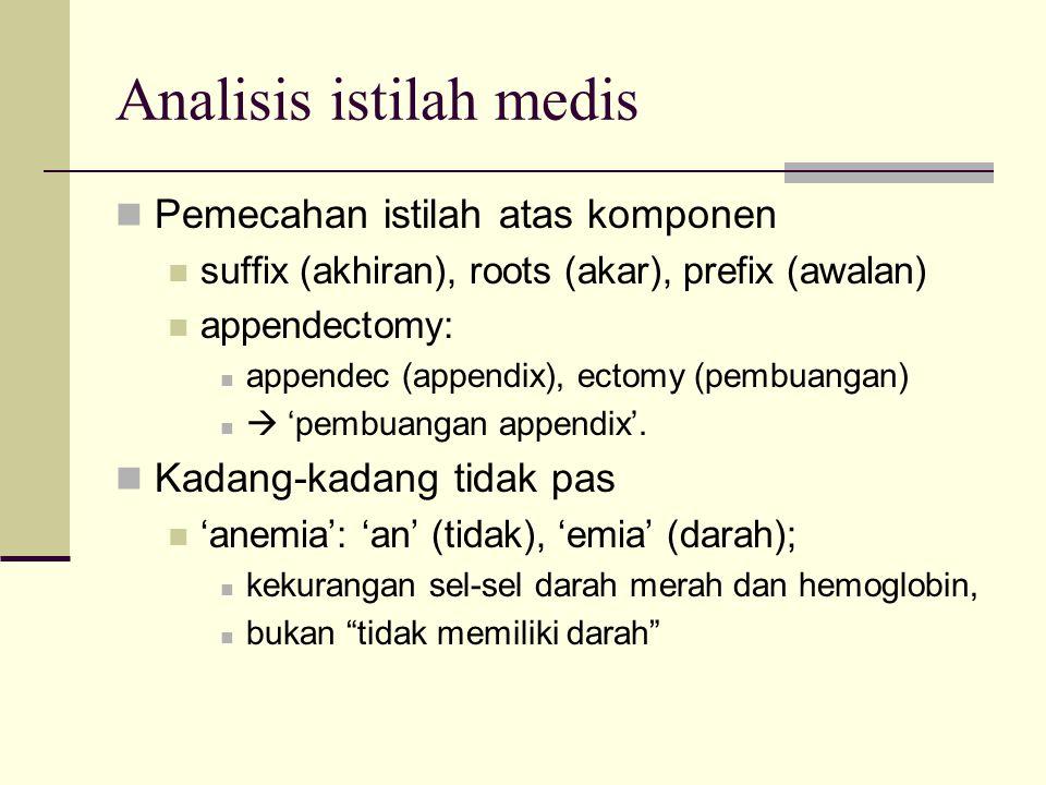 Analisis istilah medis