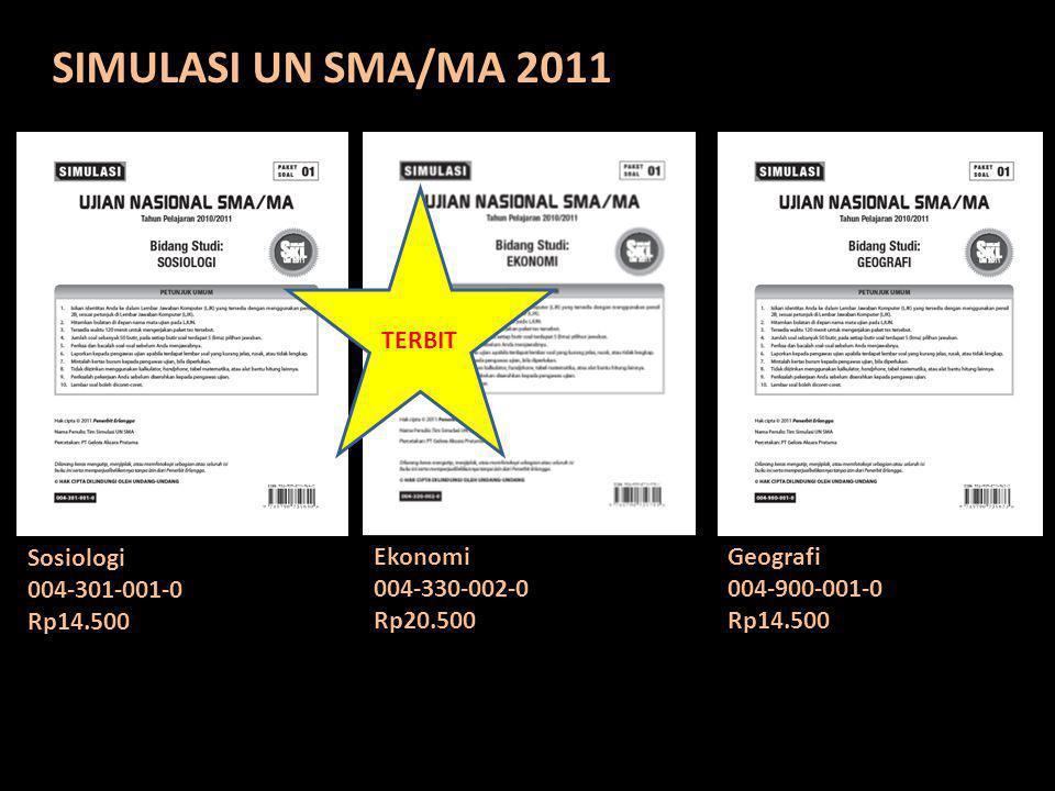 SIMULASI UN SMA/MA 2011 TERBIT Sosiologi 004-301-001-0 Rp14.500