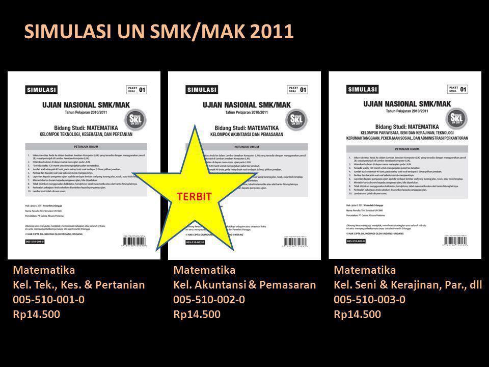 SIMULASI UN SMK/MAK 2011 TERBIT Matematika Kel. Tek., Kes. & Pertanian