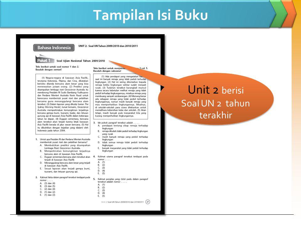Unit 2 berisi Soal UN 2 tahun terakhir