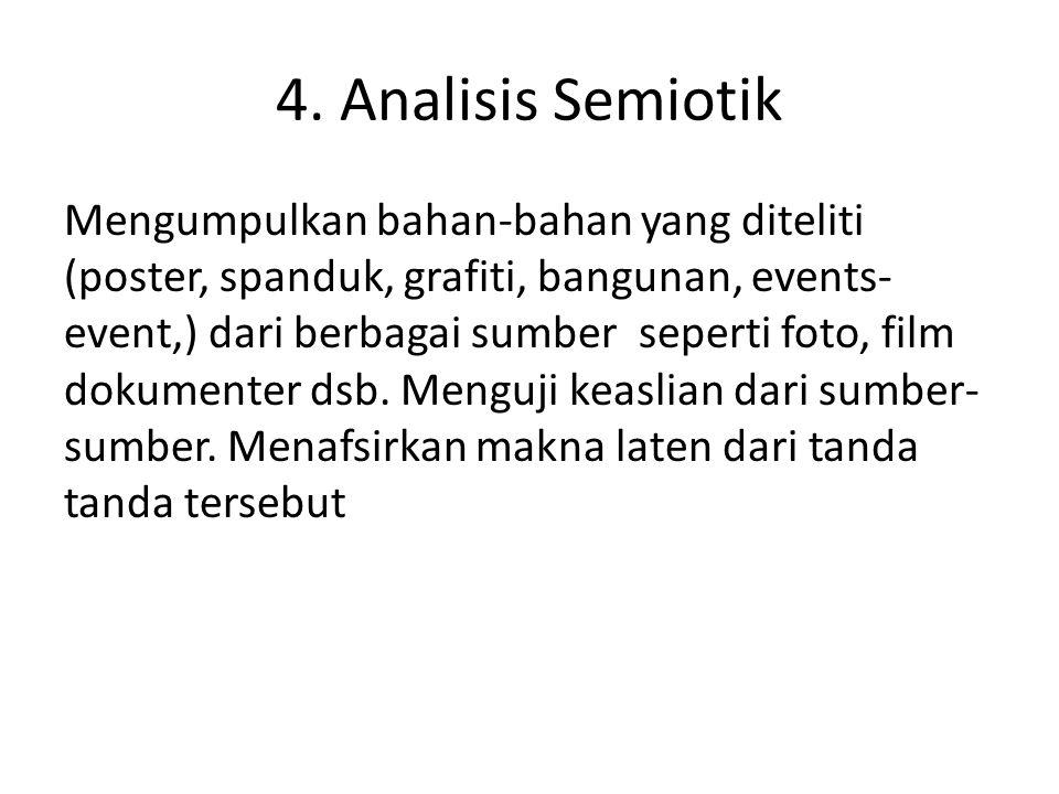 4. Analisis Semiotik