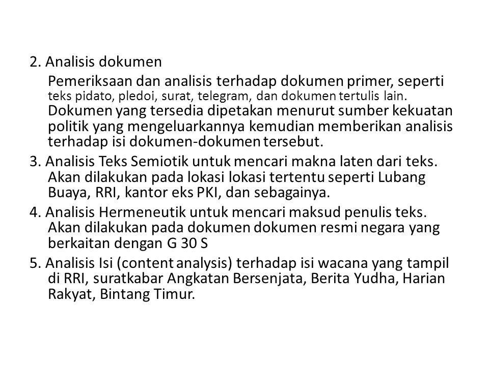 2. Analisis dokumen