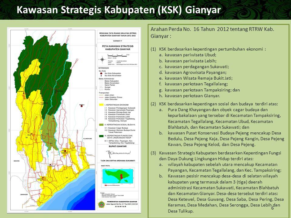 Kawasan Strategis Kabupaten (KSK) Gianyar